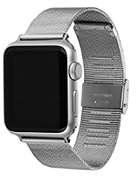 Apple Watch Band, Odyssey 42mm Milanese Loop Stainless Steel Mesh Bracelet Apple Smart Watch Replacement Band for Apple Watch Sport & All Edition W Metal Adapter Clasp & Watch Strap Screwdriver Kit for Apple Watch Smart Watch Milanese Mesh