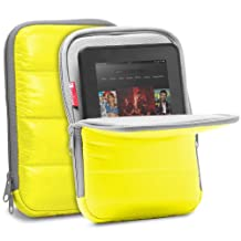 GreatShield ARCTIC [Quilted Material | Kickstand] Sleeve Case for 7 to 8-inch Tablets - Fits Apple iPad Mini, Galaxy Tab 7, Nexus 7, LG, Asus Tablet (Yellow)