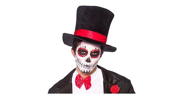 Adulto Negro del sombrero de copa del vestido de lujo de accesorios de  Halloween  Amazon.es  Juguetes y juegos 2075902f6ba