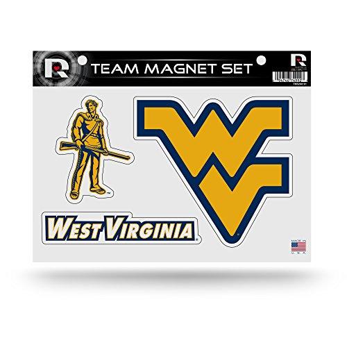 Rico Industries NCAA West Virginia Mountaineers Die Cut Team Magnet Set Sheet