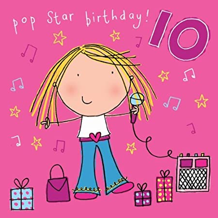 Twizler 10th Birthday Card For Girl With Karoke Presents And