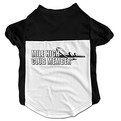 MILE HIGH CLUB MEMBER Latest Puppy Dog Clothes Sweaters Shirt Hoodie Coats