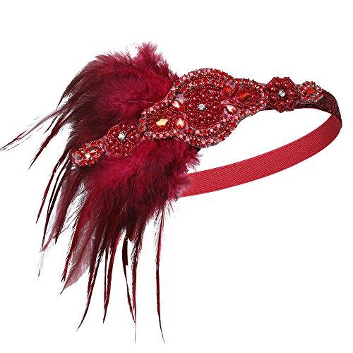 BABEYOND 1920s Flapper Headband 20s Great Gatsby Headpiece