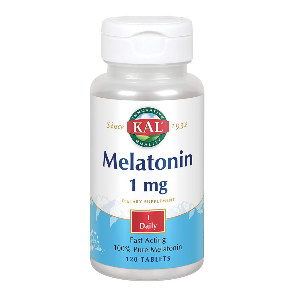 Amazon.com: KAL Melatonin 1mg | 100% Pure | Healthy Relaxation Support | Fast-Acting Vegetarian Formula | Lab Verified | 120 Tablets: Health & Personal Care