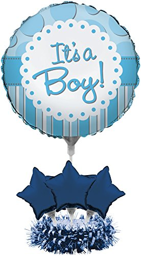 Creative Converting 268805 Air-Filled It's a Boy Balloon Centerpiece Kit Party Supplies One Size -