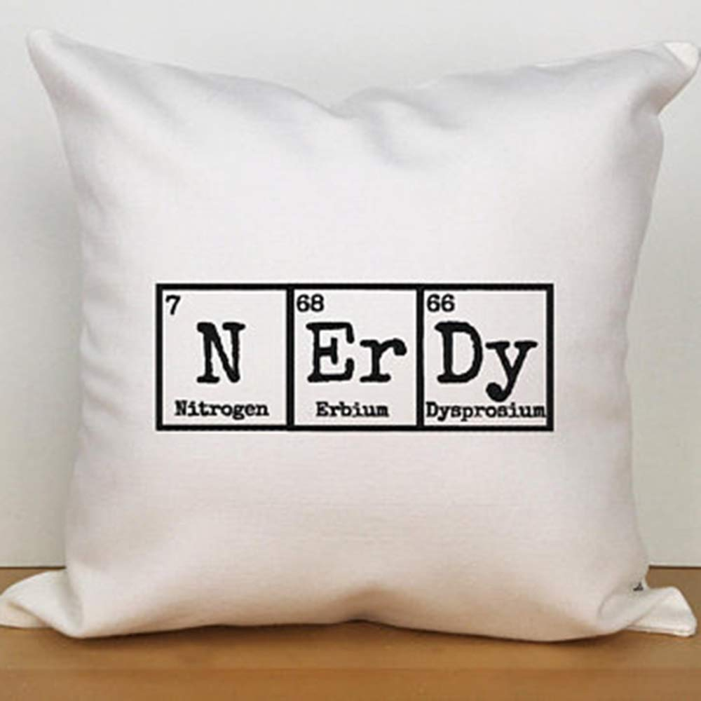 FaceYee Science Chemistry College Classroom Pillows Cushion Covers for Science Gifts School Student Bed Couch Chair Sofa. Pillowcase 18x18.Square Cushion Covers.Nerdy Gift Color:1