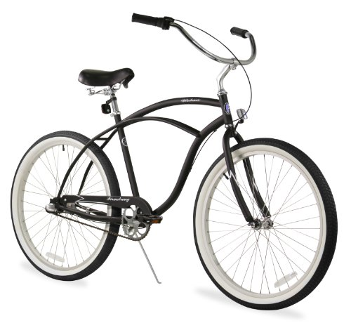 - Firmstrong Urban Man 3-Speed Beach Cruiser Bicycle, 26-Inch, Matte Black