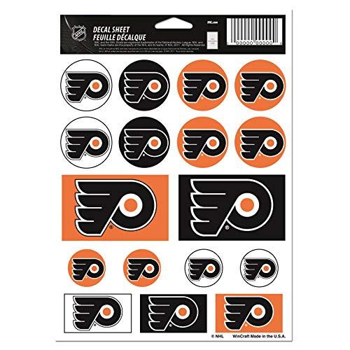 WinCraft NHL Philadelphia Flyers Vinyl Sticker Sheet, 5