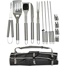 Simplistex 17 Piece Stainless Steel BBQ Grill Set - Barbecue Accessories Grilling Kit Set - by