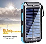 Solar Power Bank, YELOMIN 20000mAh Portable Solar