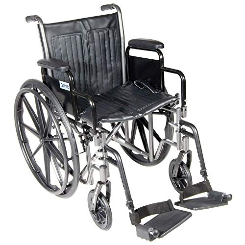 Drive Medical Drive Silver Sport 2 Detachable Desk Arms/Footrests Wheelchair Detachable Desk Arms and Swing Away Footrests 18