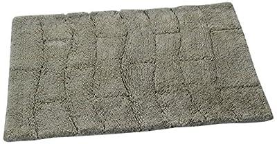 Castle Hill New Tile Spray Latex Back Bath Rug, 20 by 30-Inch, Light Sage