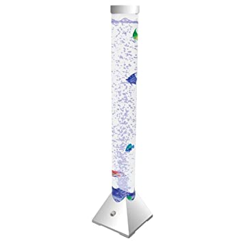 Columna decorativa de burbujas, con ledes que cambian de color y peces artificiales: Amazon.es: Hogar