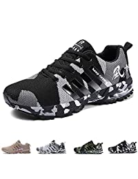 Mens Womens Running Shoes Casual Sports Shoes Air Cushion Running Trainers Lace-up Sneakers Breathable Athletic Shoes