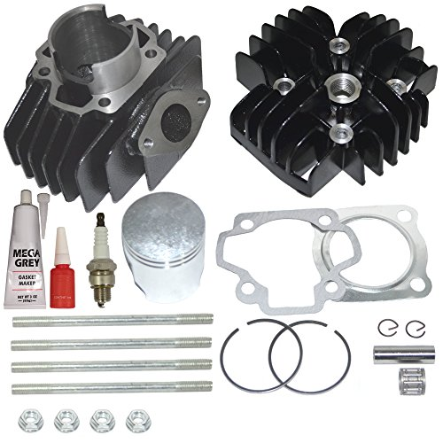 BIG BORE KIT SET FOR YAMAHA PW50 60CC CYLINDER PISTON GASKET HEAD TOP END 1981-2009