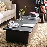 Enitial Lab Zoe Modern Swivel Coffee Table - Black/White