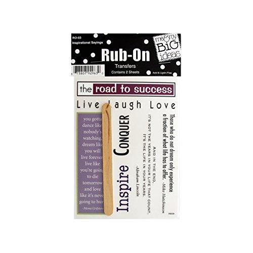 nal Sayings Rub-On Transfers, Black/White/Green/Blue/Purple/Burgundy (Paper Rub)