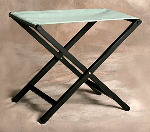 (Sutton Bridge Director Style Small Footstool with Aluminum Frame in Spa)