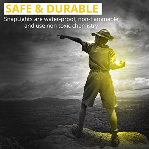 Large Product Image of Cyalume SnapLight Yellow Glow Sticks – 6 Inch Industrial Grade, Ultra Bright Light Sticks with 12 Hour Duration (Pack of 10)