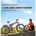 sheng-milo-26-Pollici-Fat-Tire-Electric-Bike-1000W-48V-Snow-E-Bike-Shimano-21-velocita-Beach-Cruiser-Mens-Women-Mountain-e-Bike-Pedal-Assist-Batteria-al-Litio-Freni-a-Disco-Idraulici-Rosso
