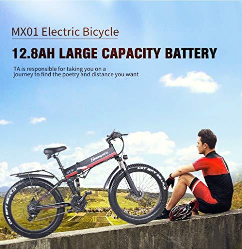 26 Pollici Fat Tire Electric Bike 1000W 48V Snow E-Bike Shimano 21 velocità Beach Cruiser Mens Women Mountain e-Bike… 2 spesavip