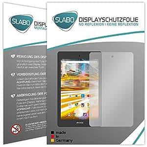 "2 x Slabo protector de pantalla Archos 80 Oxygen lámina protectora de pantalla ""No Reflexion - No Reflexiones"" MATE suprime reflejos MADE IN GERMANY"
