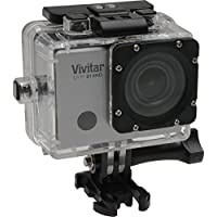 Vivitar DVR914HD 1440p HD Wi-Fi Waterproof Action Video Camera Camcorder (Silver) with Remote
