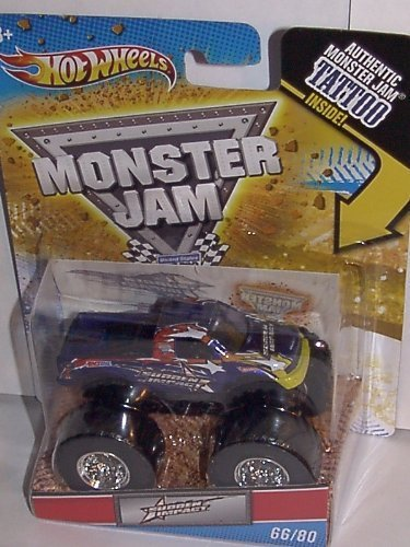 2011 HOT WHEELS 1:64 SCALE SUDDEN IMPACT TATTOO MONSTER JAM TRUCK. #66/80 by Hot Wheels