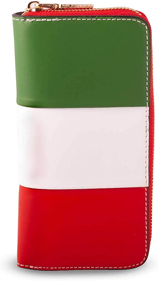 Large Woman Wallet in Leather 2.6x10 H19.5 cm MICHELANGELO Genuine Leather Calf-Skin Italy ITALY
