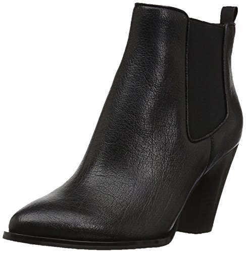 The Fix Women's Joelle Cowboy Style Ankle Boot Black Leather