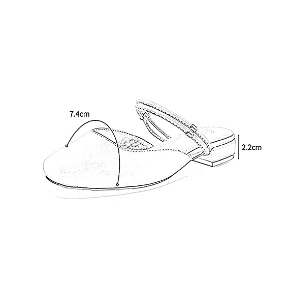 YQQ Sandalias De Verano Zapatos Planos Zapatos De Mujer Escarchado Zapatos Perezosos De Fondo Plano Zapatos De Boca Baja Cabeza Cuadrada De Tacón Bajo ...
