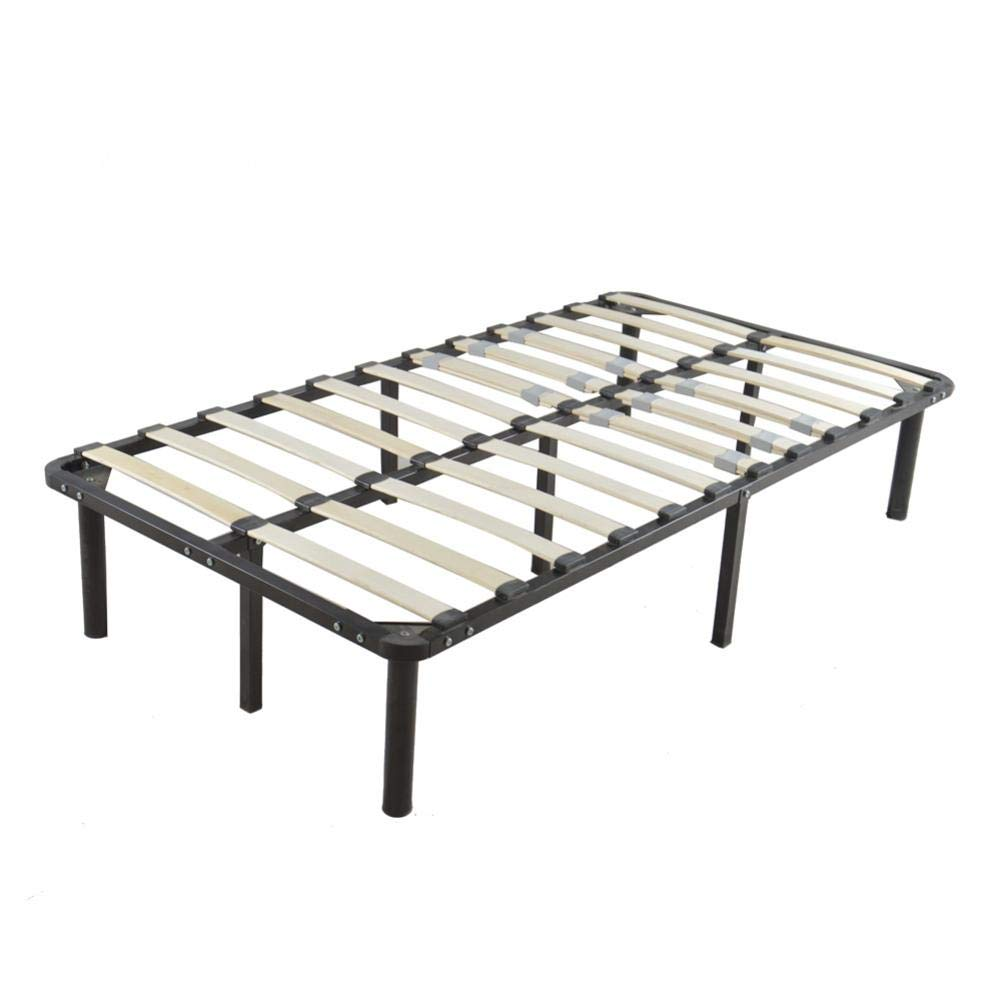 Futureshine Sturdy Bed Frame Mattress Foundation Platform Bed with Wood Slat Support, Black by Futureshine