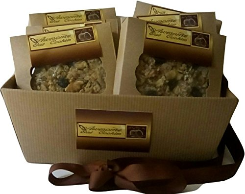 Awesome Oat Cookies 12- Gourmet Oatmeal Walnut/Raisin by Awesome Oat Cookies