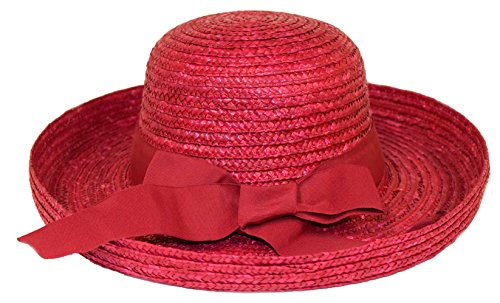 Red Kettle Straw Hat / Red Hat Ladies Society (Red Society Dresses Hat)