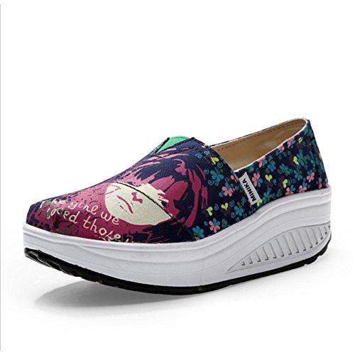 Loafers Un Tela da Autunno Slip Mocassini Scarpe Shaking guida Primavera Shoes Di E Donna Shake Athletic Flat Guida Xue Da Fitness Sneakers Platform vUFUB