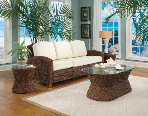 Home Styles 5402-61 Cabana Banana 3 Seat Sofa, Cocoa Finish