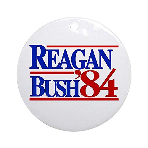 Bush Ornament (CafePress Reagan Bush 1984 Ornament (Round) Round Holiday Christmas Ornament)