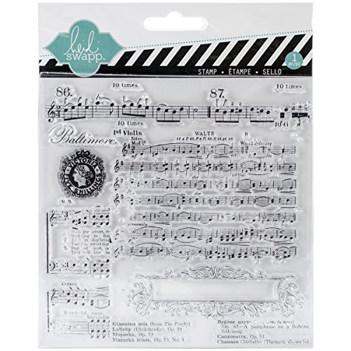 Heidi Swapp 1144 Clear Stamp, Music Notes