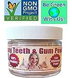 Happy Teeth & Gum Powder - Organic/nonGMO - Reduces Gum Disease, Recession, Gingivitis, Plaque, Bleeding, Sensitivity, Inflammation, Bad Breath, - The Future of Dental Care Here for YOU -- NOW!