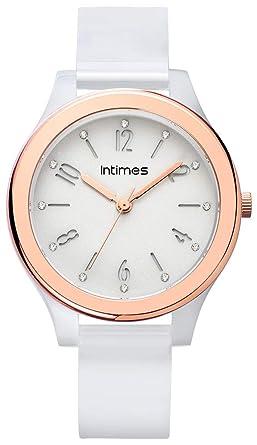 57a7841eb5 INTIMES インタイムス ITCF095 レディース キッズ 腕時計 (ホワイト/ローズゴールド)