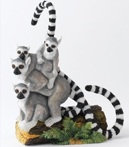 (Country Artists Natural World CA03747 Balancing Act Lemur Group Figurine by Natural World)