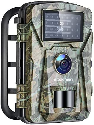 APEMAN Trail Camera 16MP 1080P No-Glow Infrared Night Vision Hunting Camera for Wildlife Monitoring, Garden, Home Security Surveillance