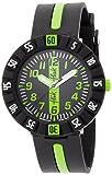 Flik Flak Sunny Hours Green Ahead Black Dial Plastic Strap Boys Watch ZFCSP032