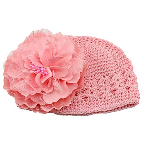 Baby Stuff Animals (Fullkang Flower Toddlers Infant Baby Girl Lace Hair Band Headband Headwear Hat (pink))