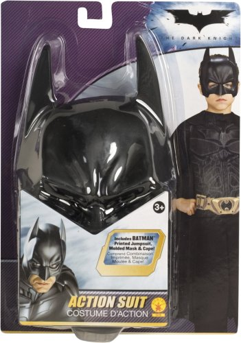 Batman the Dark Knight Action Suit Child, Size 8 to 10 (Halloween Clearance Costumes)