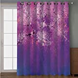 Joy2016 Blackout Curtains for Patio Sliding Door, Extra Wide Draperies for Double Window, Thermal Insulated Energy Efficiency Blackout Curtains for Bedroom Decor, 108 Inch Wide x 90 Inch Length