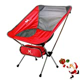 Automotive : Moon Lence Ultralight Portable Folding Camping Backpacking Chairs with Carry Bag (newred)