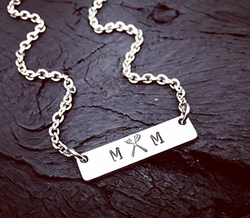 Lacrosse Mom Bar Necklace | Lacrosse Jewelry | Lacrosse Mom Jewelry Gift | Sports Mom Gift | Lacrosse Sticks Jewelry | Sports Mom Necklace