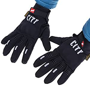 Windproof Outdoor Winter Thermal Gloves Full Finger Water Resistance Touchscreen Cycling Motorcycle Gloves for Smart Phone >> Color:Black M