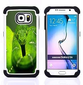 - snake green nature rainforest reptile tail/ H??brido 3in1 Deluxe Impreso duro Soft Alto Impacto caja de la armadura Defender - SHIMIN CAO - For Samsung Galaxy S6 G9200
